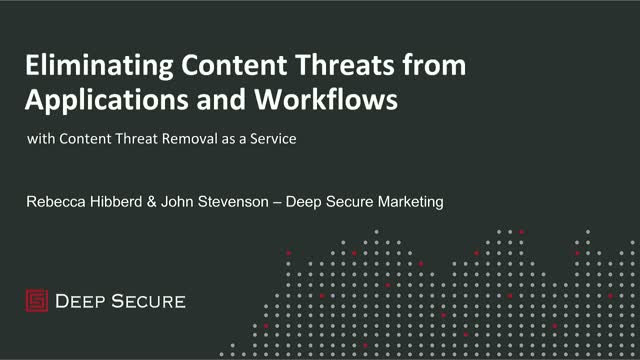 Eliminating Content Threats from Applications and Workflows