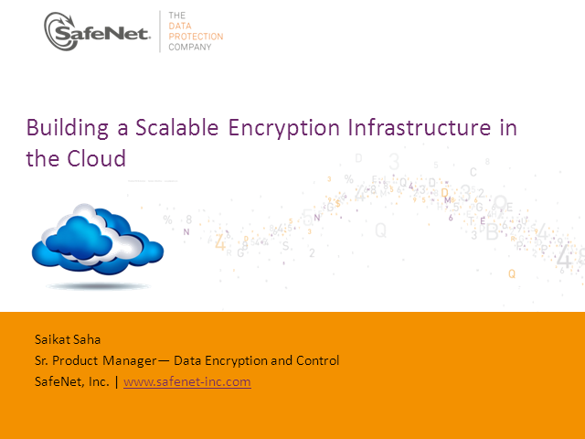 Building a Scalable Encryption Infrastructure in the Cloud