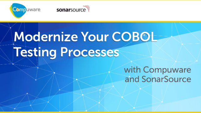 Modernize Your COBOL Testing Processes with Compuware and SonarSource