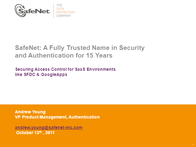 Securing Access Control for SaaS Environments like SFDC & GoogleApps