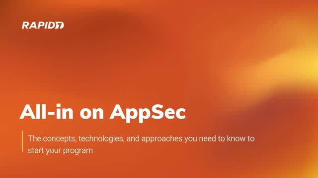 All-in on AppSec: The concepts, technologies, and approaches you need to know.