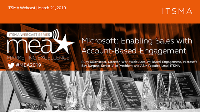 Microsoft: Enabling Sales with Account-Based Engagement