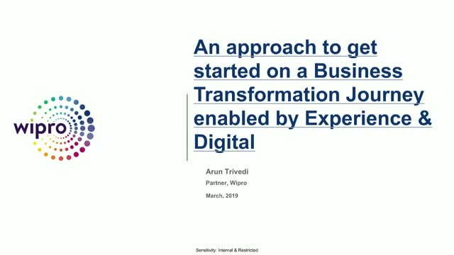 Business Transformation enabled by Experience & Digital - An approach
