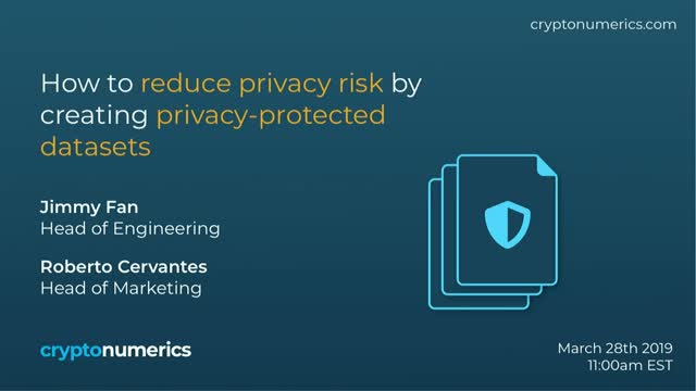 How to reduce privacy risk by creating privacy-protected datasets