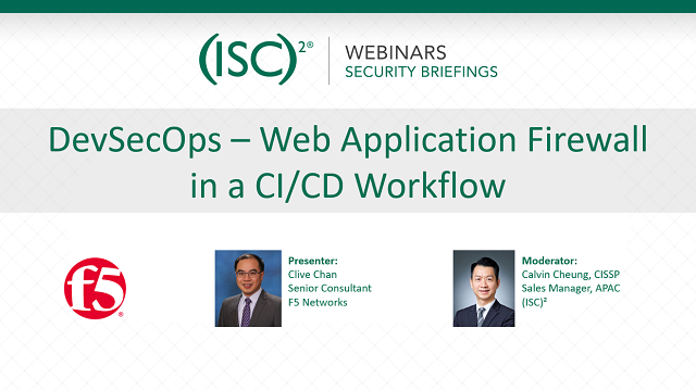 DevSecOps - Web Application Firewall in a CI/CD Workflow (10 Apr 2019)