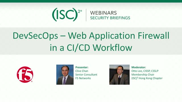 DevSecOps – Web Application Firewall in a CI/CD Workflow  (以粵語進行)