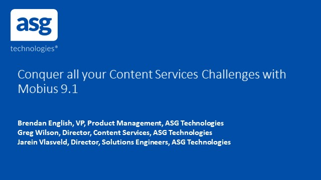 Conquer all your Content Services Challenges with Mobius 9.1