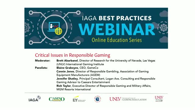 Critical Issues in Responsible Gambling