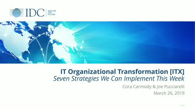 IT Org Transformation – Seven Strategies We Can Implement This Week