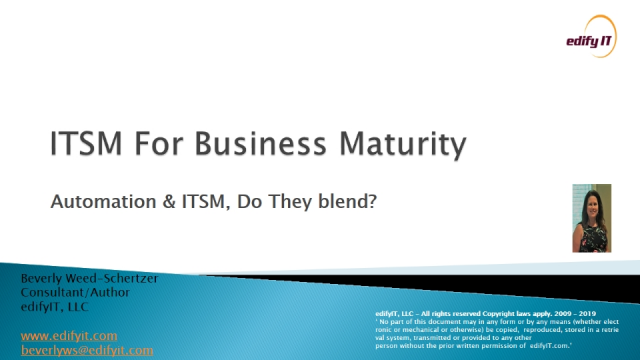 Automation & ITSM - Do They Blend?
