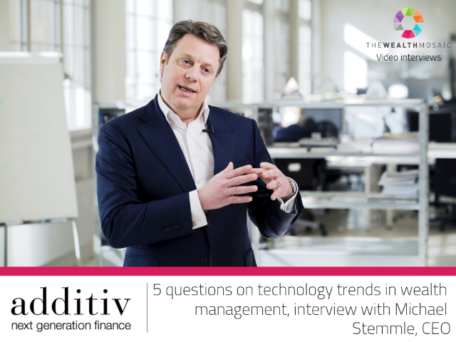 additiv: Five questions on technology trends in the wealth management sector