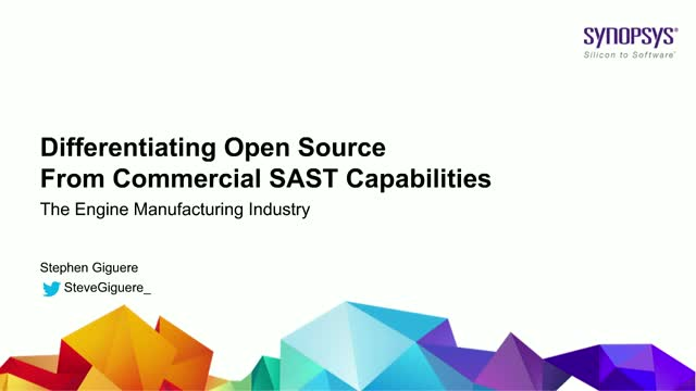 Differentiating open source from commercial SAST capabilities
