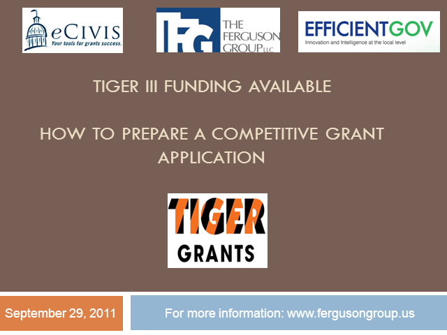 TIGER III Grants: How Your Community Can Write a Competitive Application