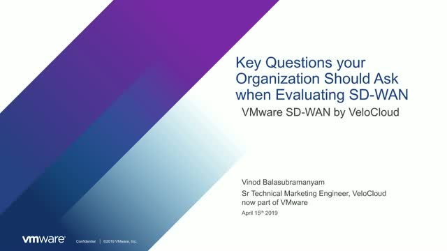Key Questions your Organization Should Ask When Evaluating SD-WAN