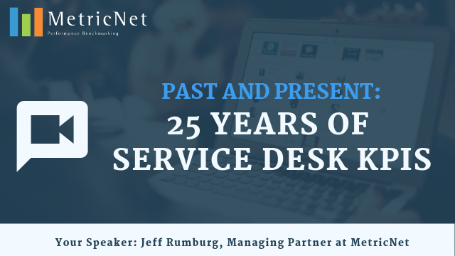 Past and Present: 25 Years of Service Desk KPIs