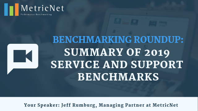 Benchmarking Roundup: Summary of 2019 Service and Support Benchmarks