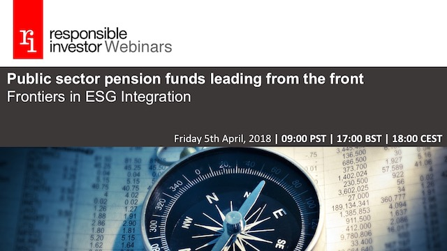 Public sector pension funds leading from the front: ESG frontiers in integration