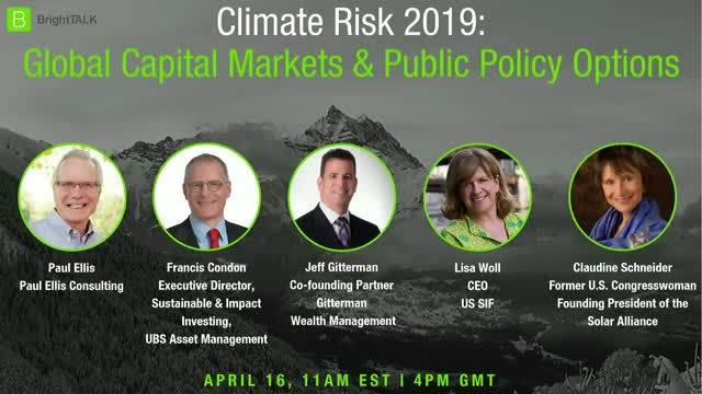 Climate Risk 2019: Global Capital Markets and Public Policy Options