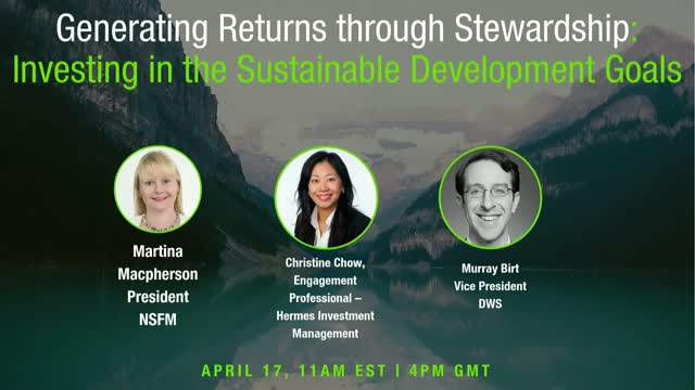 Generating Returns with Stewardship: Investing in Sustainable Development Goals