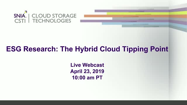 ESG Research: The Hybrid Cloud Tipping Point