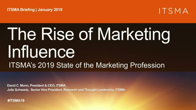 ITSMA's 2019 State of the Marketing Profession
