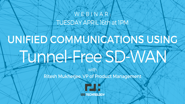 Unified Communications using Tunnel-free SD-WAN