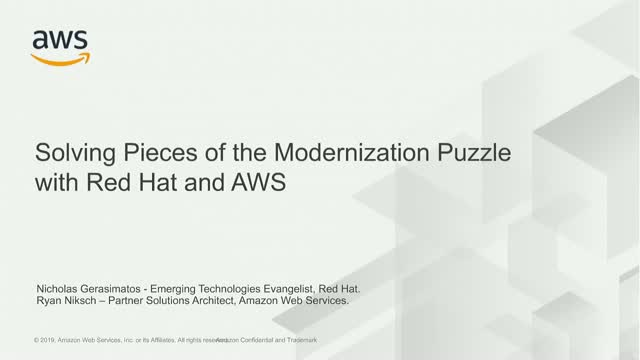 Solving Pieces of the Modernization Puzzle with Red Hat and AWS
