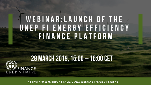 Launch of the UNEP FI Energy Efficiency Finance Platform