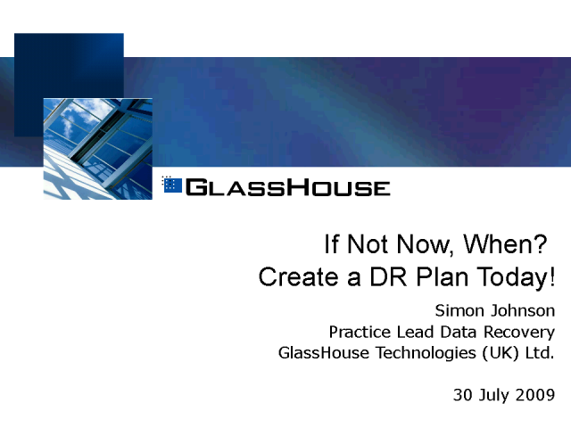If Not Now, When? Create a Data Recovery Plan Today