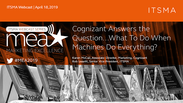Cognizant Answers the Question...What To Do When Machines Do Everything?