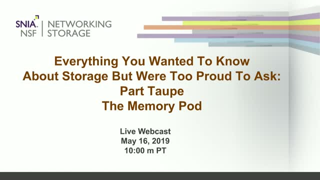 Everything You Wanted to Know...But Were Too Proud to Ask - The Memory Pod