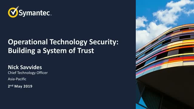 Operational Technology Security: Building a System of Trust