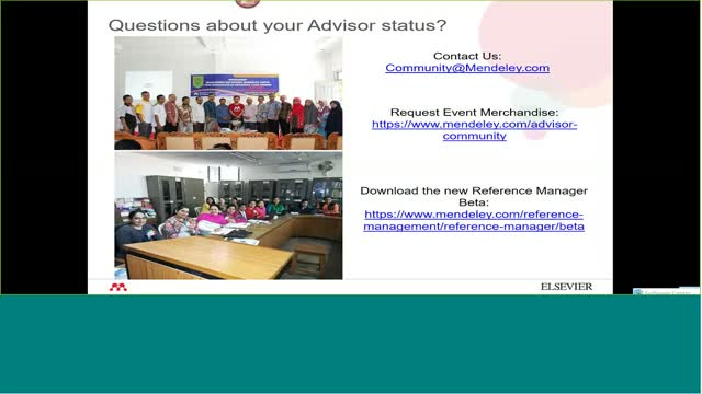 Mendeley Advisor Briefing Q1 2019