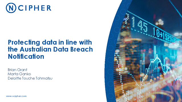 Protecting Data in line with the Australian Data Breach Notification
