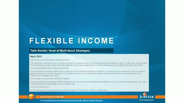 Jupiter Asset Management: Jupiter Flexible Income - April 2019