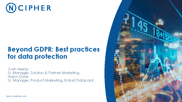 Beyond GDPR: Best Practices for Data Protection