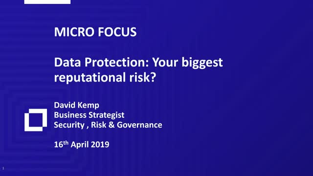 Data protection: Your biggest reputational risk?