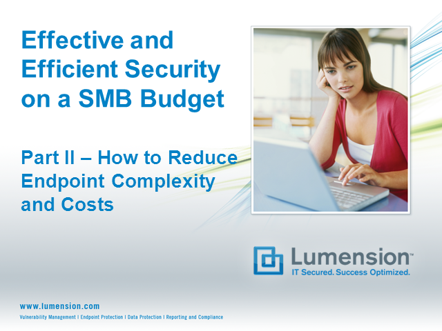 How to Reduce Endpoint Complexity and Costs