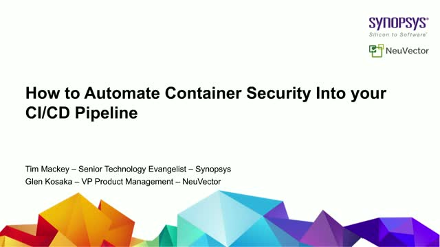 How to Automate Container Security Into your CI/CD Pipeline