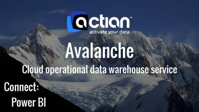 Actian Avalanche - Connect to Power BI