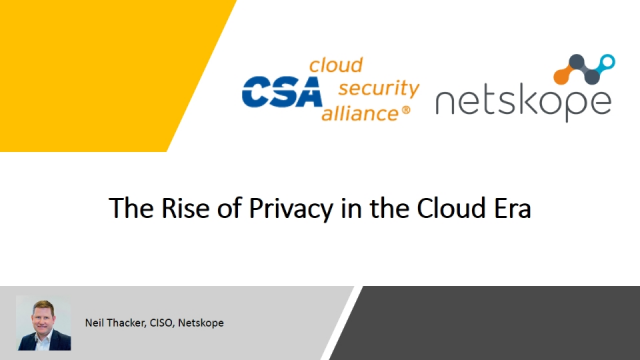 The Rise of Privacy in the Cloud Era