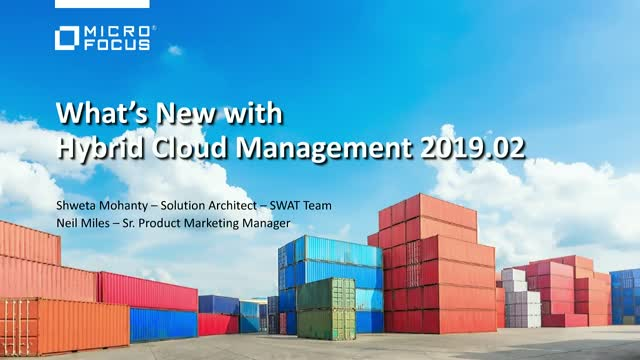 What's New in Hybrid Cloud Management 2019.02