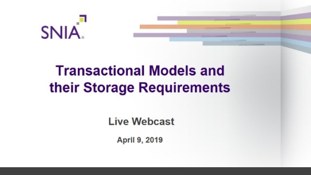 Transactional Models and their Storage Requirements