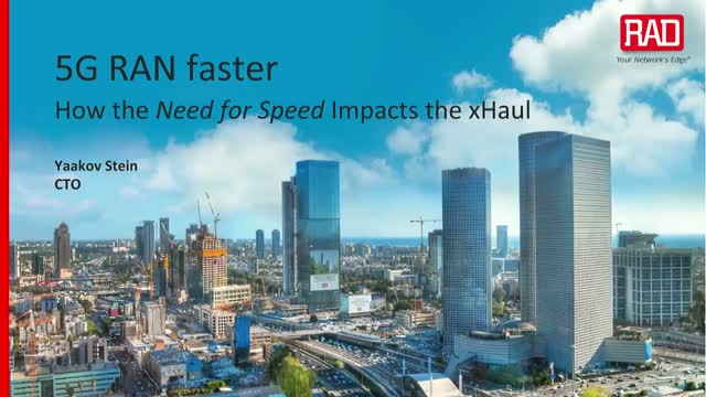 5G RAN Faster: How the Need for Speed Impacts the xHaul