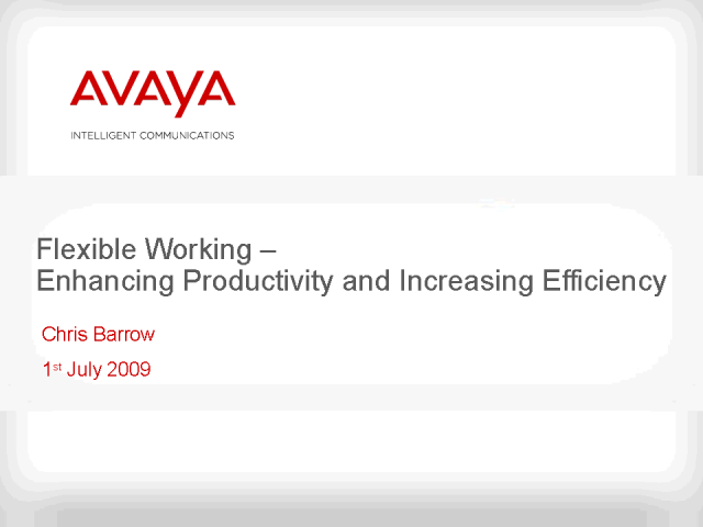 Flexible Working - Enhancing Productivity & Increasing Efficiency