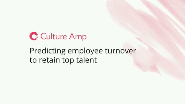 Predicting employee turnover to retain top talent