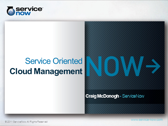 Service-oriented Cloud Management