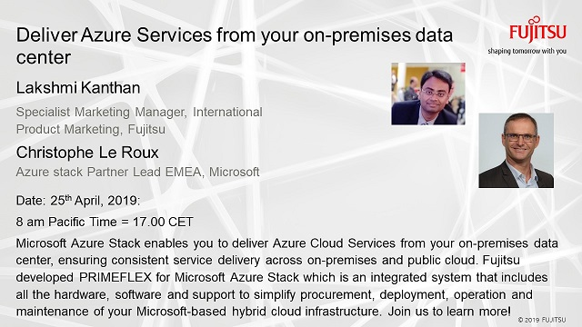 Deliver Azure Services from Your On-Premises Data Center