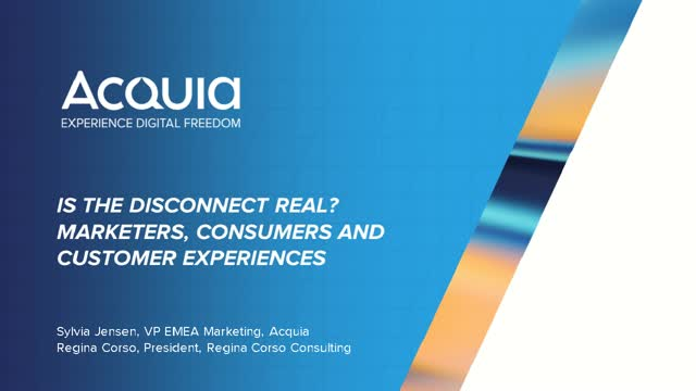 Is the Disconnect Real? Marketers, Consumers and Customer Experiences