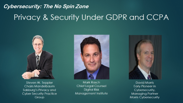 Privacy & Security Under GDPR and CCPA